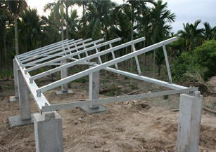 Bracket structure of solar array